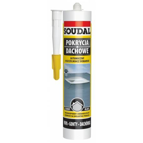 Uszczelniacz dekarski Soudal 300 ml. czarny