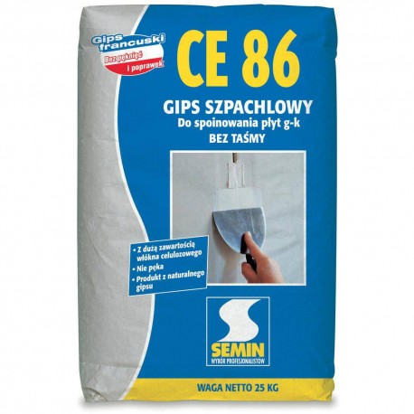 Gips beztaśmowy Semin CE 86 25 kg